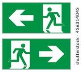 emergency exit left   emergency ... | Shutterstock .eps vector #436314043
