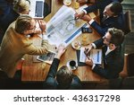 team meeting brainstorming... | Shutterstock . vector #436317298