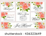 wedding invitation  thank you... | Shutterstock .eps vector #436323649