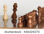 chess photographed on a... | Shutterstock . vector #436324273