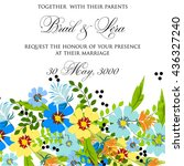 wedding card or invitation with ... | Shutterstock .eps vector #436327240