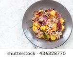 octopus with potatoes  olive... | Shutterstock . vector #436328770