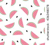 seamless background with pink... | Shutterstock .eps vector #436348078