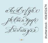 hand drawn vector calligraphy...   Shutterstock .eps vector #436352674