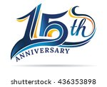 anniversary emblems 15 in... | Shutterstock .eps vector #436353898