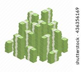 big stacked pile of cash.... | Shutterstock .eps vector #436356169