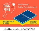table tennis center banner... | Shutterstock .eps vector #436358248