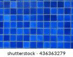 Geometric Blue Tile Pattern...