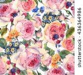 classical vintage floral... | Shutterstock . vector #436364986