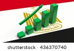 arrow pointing up on a flag of... | Shutterstock . vector #436370740