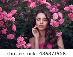 fashion style beauty romantic... | Shutterstock . vector #436371958