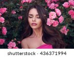 fashion style beauty romantic... | Shutterstock . vector #436371994