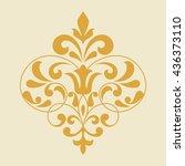 vintage rhombus pattern for... | Shutterstock .eps vector #436373110