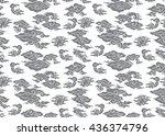 batik painting of indonesia... | Shutterstock .eps vector #436374796