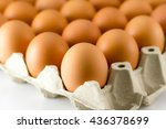 close up of eggs in paper tray | Shutterstock . vector #436378699