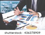 business people discussing the... | Shutterstock . vector #436378909