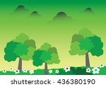 vector of tree design abstract... | Shutterstock .eps vector #436380190