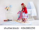 children play indoors. kids... | Shutterstock . vector #436380250