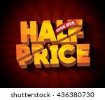 sale half price concept vector... | Shutterstock .eps vector #436380730
