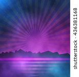 illustration of neon style...   Shutterstock .eps vector #436381168