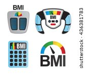 bmi or body mass index icons | Shutterstock .eps vector #436381783