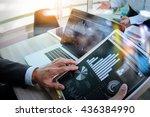 businessman making presentation ... | Shutterstock . vector #436384990