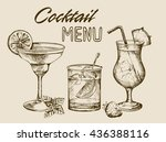 cocktail menu design background.... | Shutterstock .eps vector #436388116