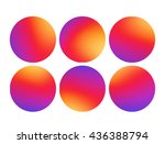 colorful smooth gradient color... | Shutterstock .eps vector #436388794
