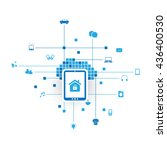 internet of things  digital... | Shutterstock .eps vector #436400530