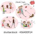 set of colored couples in the...