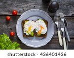 Avocado Poached Egg Toasts On...