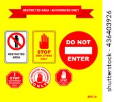 restricted area or authorized... | Shutterstock .eps vector #436403926