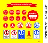 restricted area or authorized... | Shutterstock .eps vector #436403989