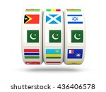 slots with flag of pakistan... | Shutterstock . vector #436406578