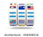 slots with flag of nicaragua... | Shutterstock . vector #436408216