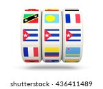 slots with flag of cuba... | Shutterstock . vector #436411489