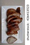 roasted pork tenderloin | Shutterstock . vector #436413523