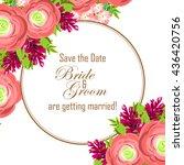 romantic invitation. wedding ... | Shutterstock .eps vector #436420756