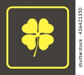 leaf clover sign icon.