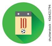 icon of football  calendar....