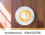a cup of coffee on wooden table ... | Shutterstock . vector #436426258