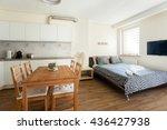 studio apartment interior   Shutterstock . vector #436427938