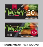 discount voucher template with... | Shutterstock .eps vector #436429990