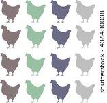 chicken run | Shutterstock .eps vector #436430038