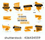 sale banner design  graphic... | Shutterstock .eps vector #436434559
