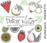 detox water vector illustration.... | Shutterstock .eps vector #436436773