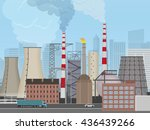 plant factory on the city... | Shutterstock .eps vector #436439266