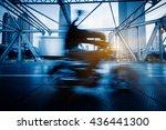 traffic on steel bridge ...   Shutterstock . vector #436441300
