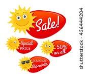 summer sale labels promotional... | Shutterstock .eps vector #436444204