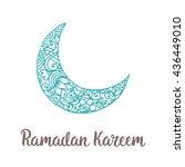 ramadan kareem theme. vector... | Shutterstock .eps vector #436449010